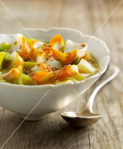 leek and haddock soup