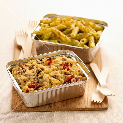 pasta shell bake and penne pasta bake (topic: bakes)