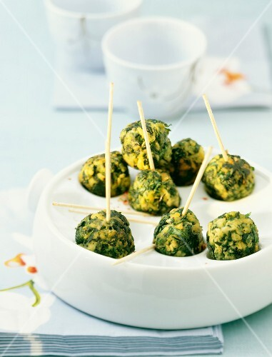 Chicken and spinach appetizers