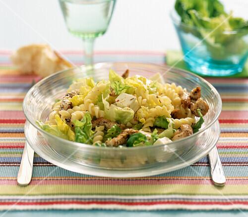 Marinated chicken and feta salad