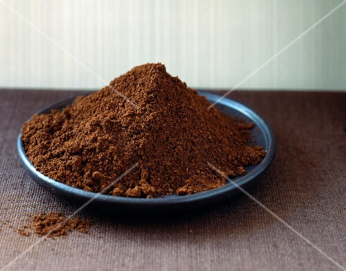 Heap of ground coffee