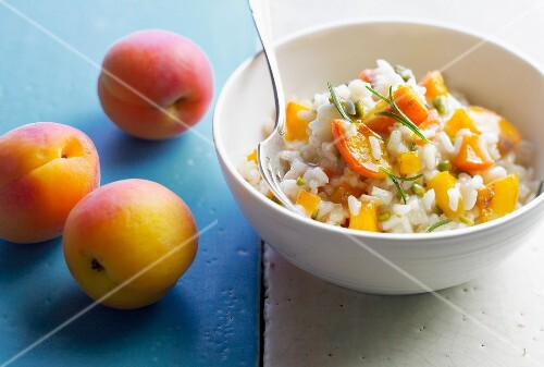 Apricot and rosemary risotto