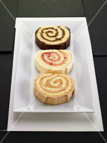 Three slices of Swiss roll