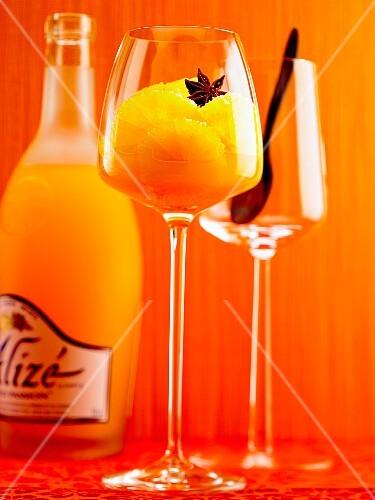 A cocktail with Alizé liqueur