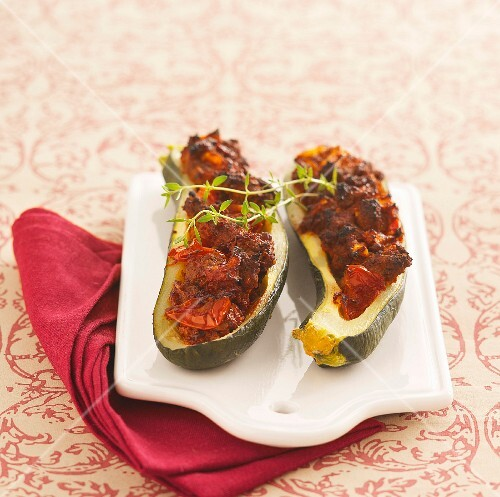 Stuffed courgette with beef