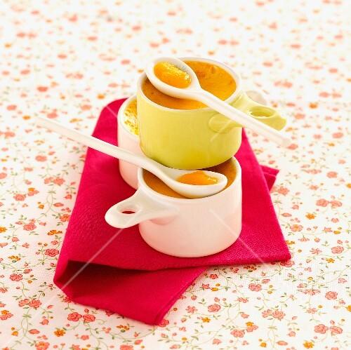 Creamy passion fruit deserts