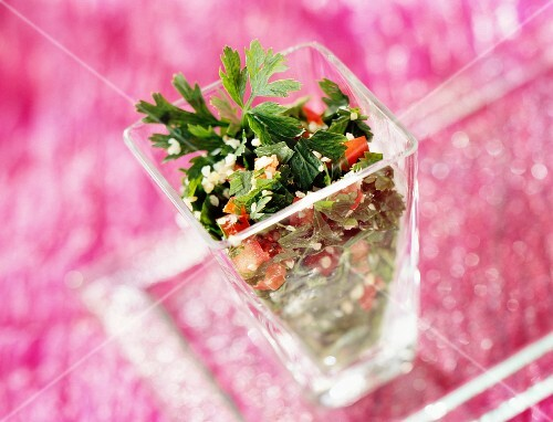 Tabbouleh with fresh parsley