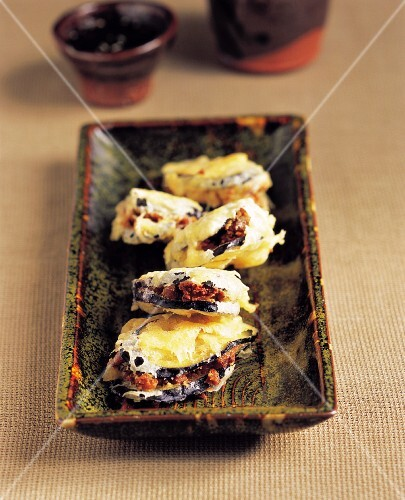 Deep-fried Eggplant with Cheonggukjang
