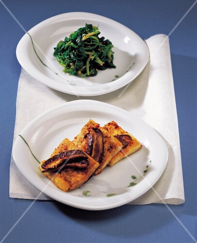 Vegetable Side Dish & Braised Pan-fried dubu