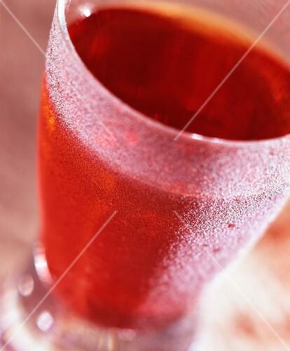 A cranberry cocktail