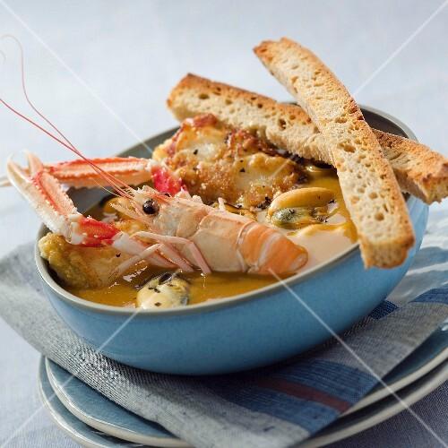 Ttoro (Basque fish soup)