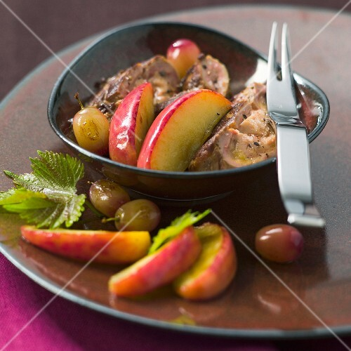 Foie gras with fruits