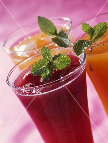 Assortment of fresh fruit juices
