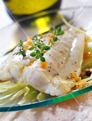 Sea bream fillet with fennel