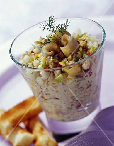 Whelk, green apple and mayonnaise tartare