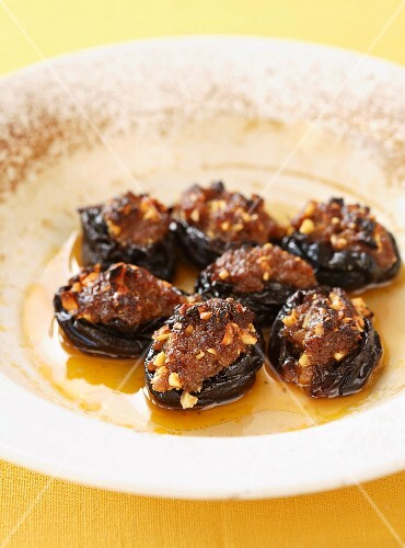 Moroccan-style stuffed dried plums