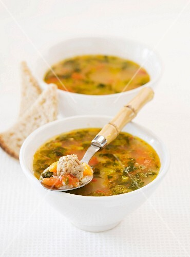 Rice soup with tomatoes