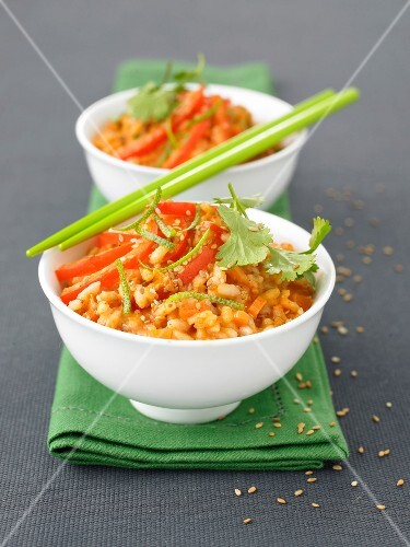 Red curry Risotto