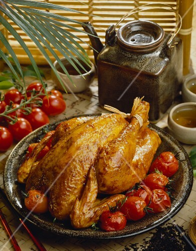 Tea-flavored chicken
