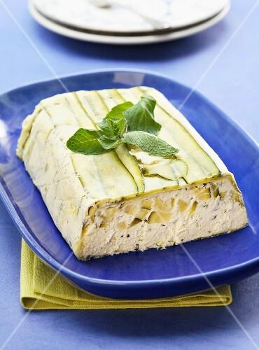 Zucchini and goat's cheese terrine