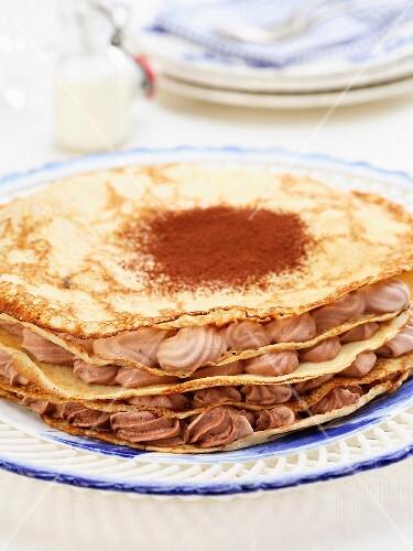 pancacke and chocolate cake