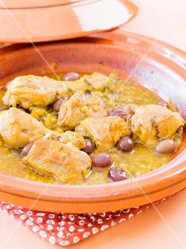 Chicken and olive Tajine