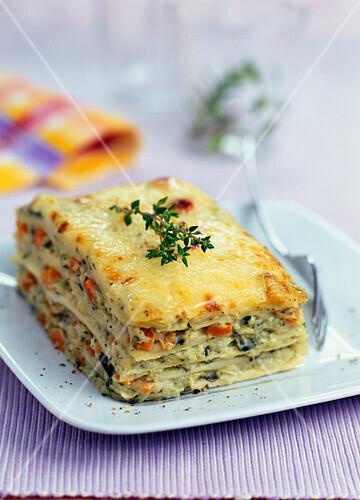 Grilled vegetable lasagnes