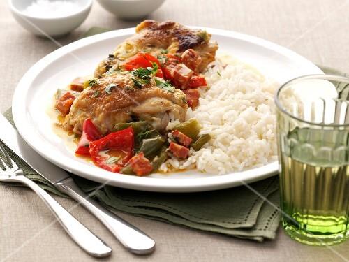 Basque chicken with rice