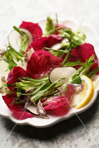 Puntarella and anchovy salad