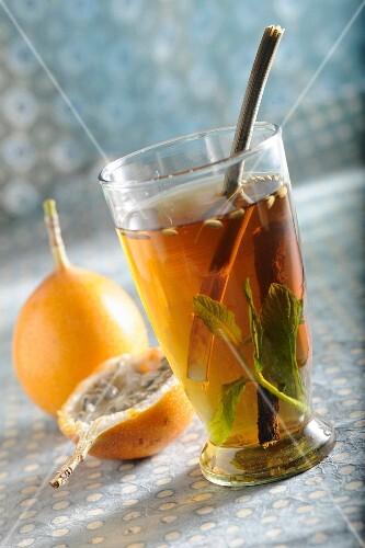 Spiced tea with kumquats