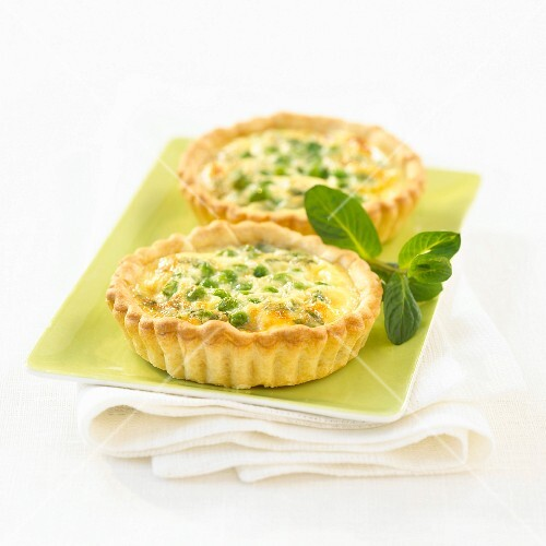 Pee and mint quiches