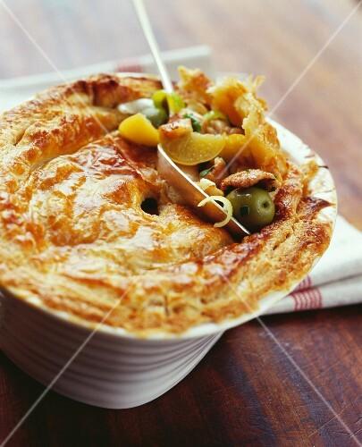 Tagine-style lamb pie