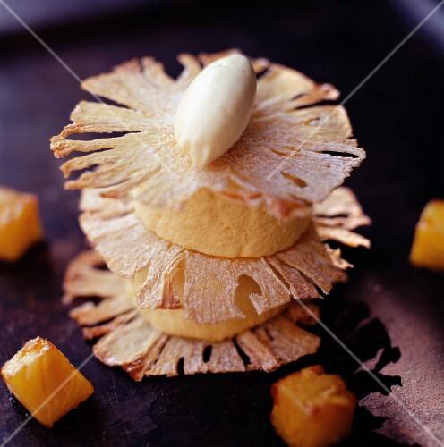 Iced pineapple layer cake
