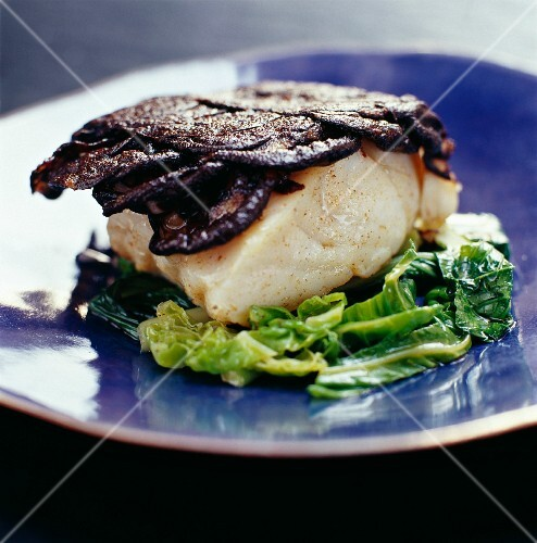 Cod with black pudding and cabbage