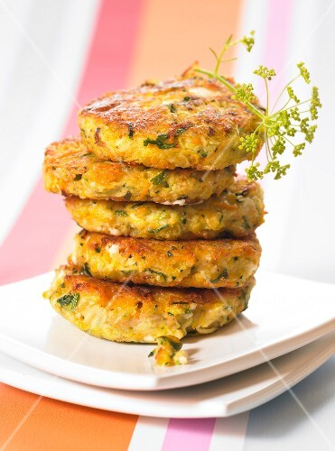 Feta and vegetable cakes