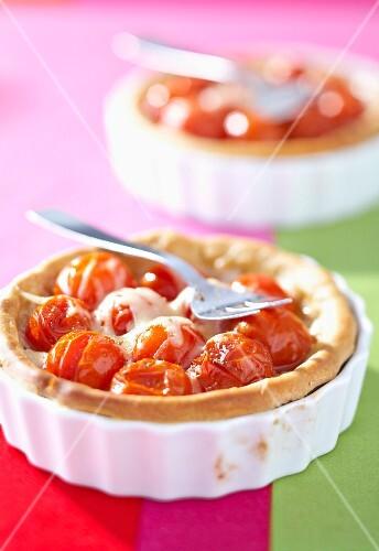 Savoury tomato tart