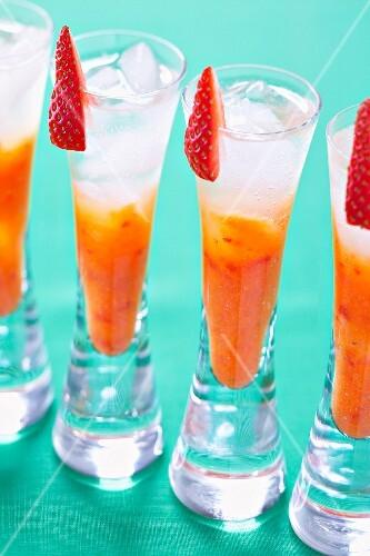 Pretty colored cocktail