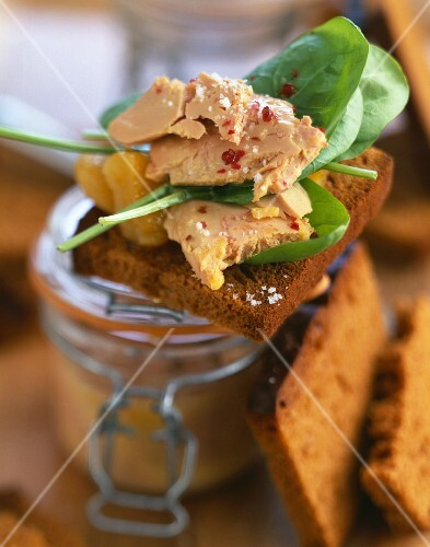 Foie gras on a slice of gingerbread