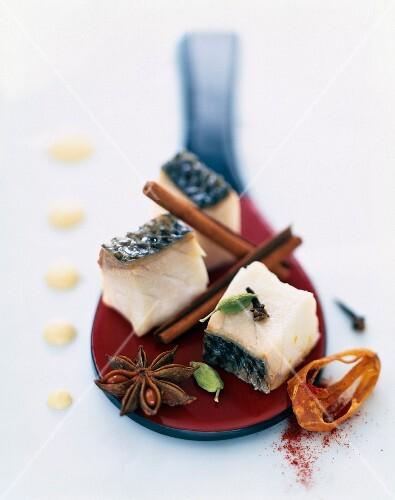 Pan-fried Mediterranean bass with yoghurt