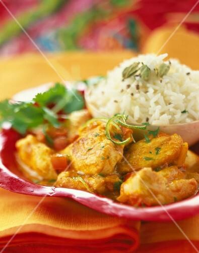 Tikka massala chicken and basmati rice