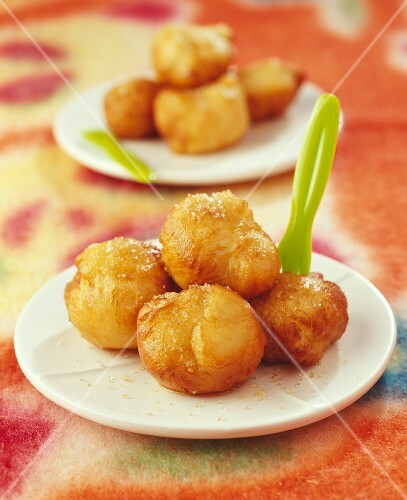 Butter fritters with brown sugar