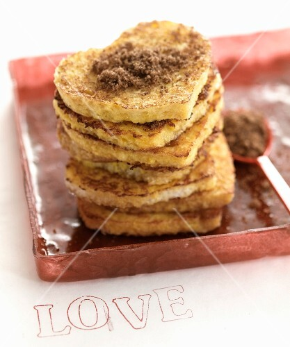 Crumpets with brown sugar