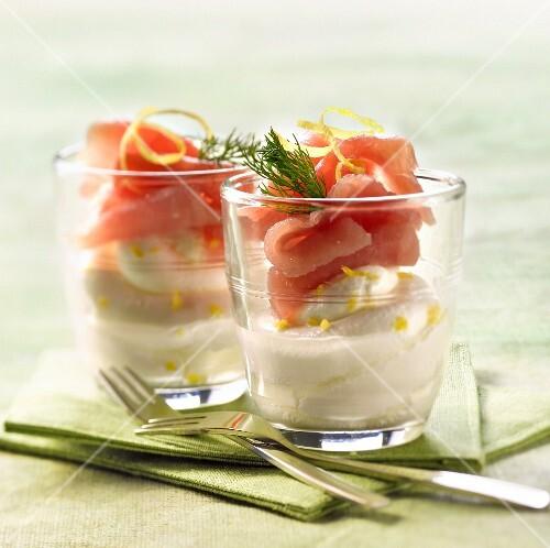 Red tuna Carpaccio with mixed mascarpone, horseradish and lemon zests