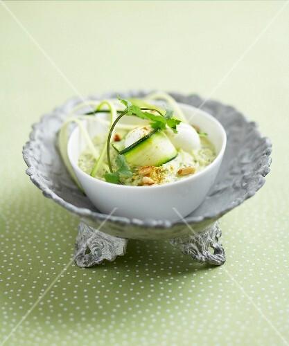 Cold cream of zucchinis
