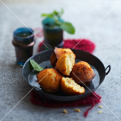 Spicy mint Madeleines