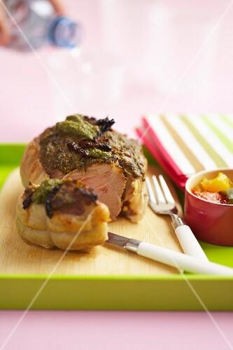 Provençal-style roast veal