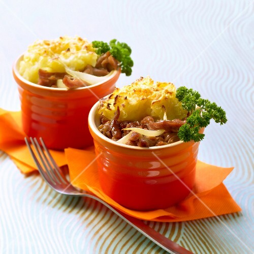 Potted duck Parmentier