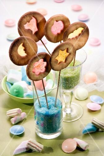Stained-glass window-style lollipops