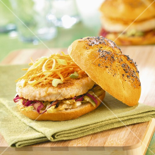 Chicken and vegetable burger