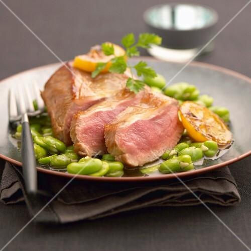 Bourbonnais lamb with broad beans